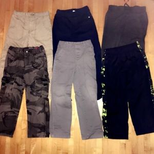 NEARLY NEW LOT OF 6 PAIRS BOYS JEANS/PANTS SZ 5/6